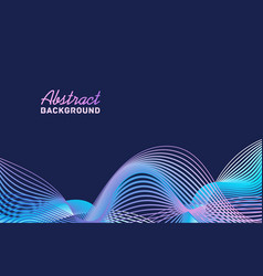 abstract colorful gradient waves background vector image