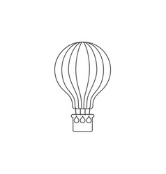 air balloon icon flat hot air balloon sign vector image