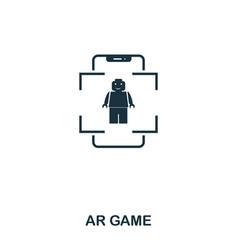ar game icon mobile app printing web site icon vector image
