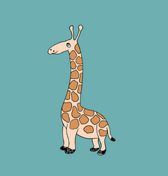 baby giraffe cartoon vector image