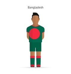 Bangladesh football player soccer uniform vector