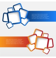 Banners with rounded squares vector image