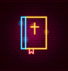 Bible neon sign vector