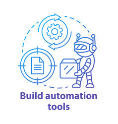 Build automation tools concept icon robot helper vector