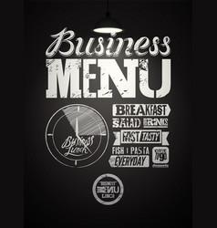 business lunch restaurant menu typographic design vector image