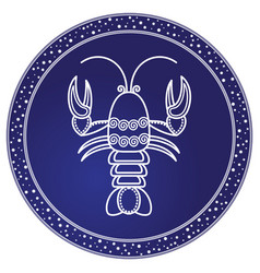 Cancer zodiac sign astrology and horoscope vector