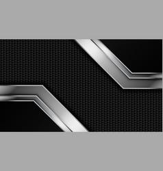 carbon fiber texture with metallic lines vector image