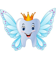 Cartoon smiling tooth fairy vector