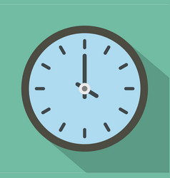 clock time icon flat style vector image