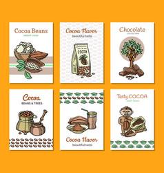 cocoa cartoon chocolate sweet food from vector image