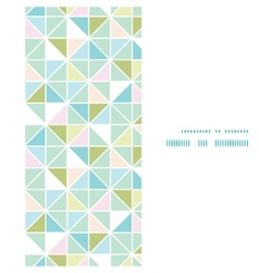 Colorful pastel triangle texture vertical frame vector