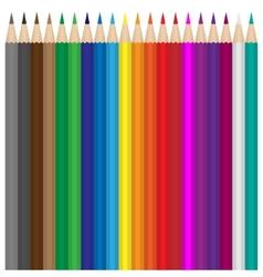 Colour pencils set vector image