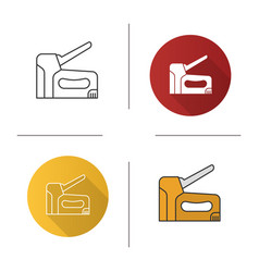 Construction stapler icon vector