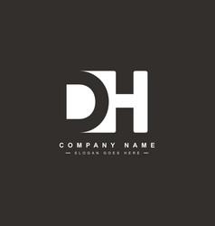 Dh initial letter logo - minimal logo vector