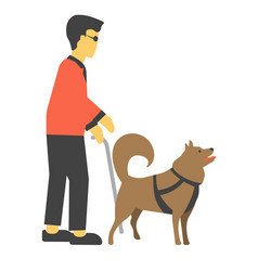 Disabled human handicapped with canine helpmates vector