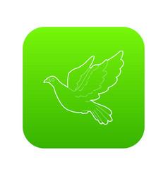 Dove icon green vector