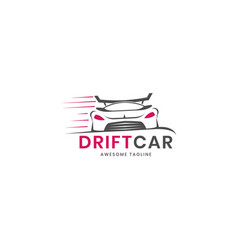 Drift car logo design inspiration vector