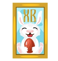 Easter Bunny with chocolate egg picture on wall vector