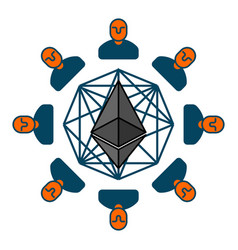 etherium pool extraction of cryptocurrency mining vector image