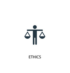 ethics icon simple element ethics vector image