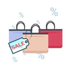 fashion women handbags with sale tag black friday vector image