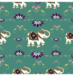 Festive typical indian elephant pattern vector image