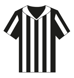 flat black and white referee shirt vector image