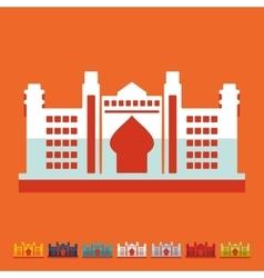 Flat design Dubai Palace vector
