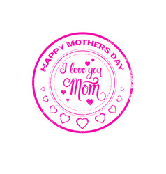 Happy mother day spring holiday greeting stamp vector