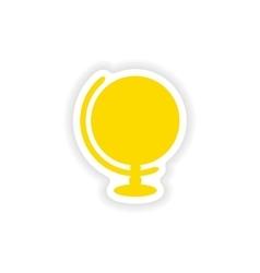 Icon sticker realistic design on paper globe vector