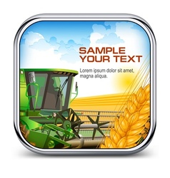 Icon with ear wheat vector image