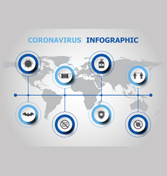 infographic design with coronavirus icons vector image