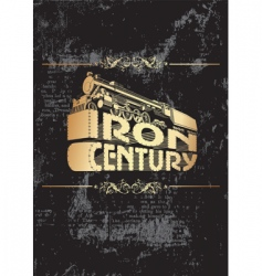Iron century golden vector