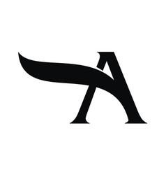 Letter a modern logo vector