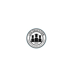 Life education logo design - university school vector