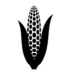 Maize icon black color flat style simple image vector