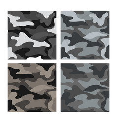 military gray camouflage pattern vector image