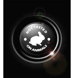 No animal testing vector image