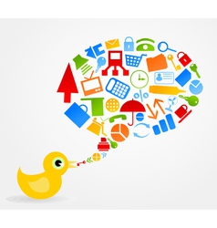 office bird vector image