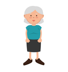 Old woman avatar character vector