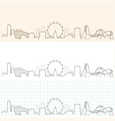 Orlando hand drawn skyline vector