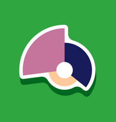 Paper sticker on stylish background circular vector