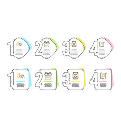 payment hourglass and sale offer icons set vector image