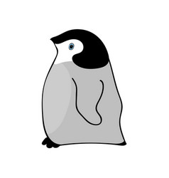penguin cute animal funny cartoon vector image