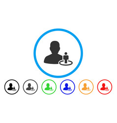 Portal moderator rounded icon vector