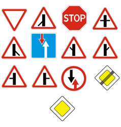 Priority signs vector