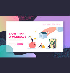 Real estate mortgage lending landing page vector