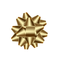 realistic golden bow for gift vector image