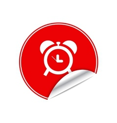 Red sticker clock vector image