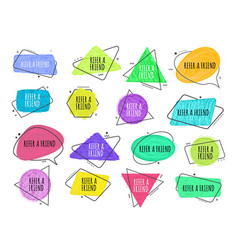 refer a friend - set colorful icons for vector image